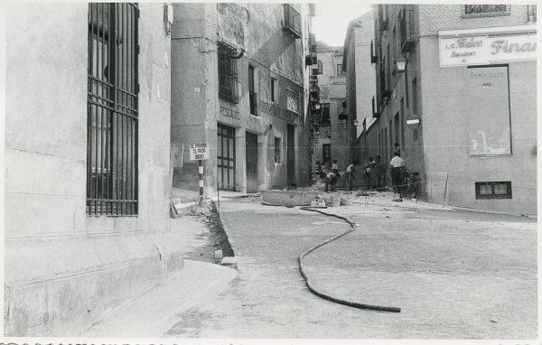 MMH-321-Obras de urbanización en la calle de Núñez de Arce_1960 - Fot Flores