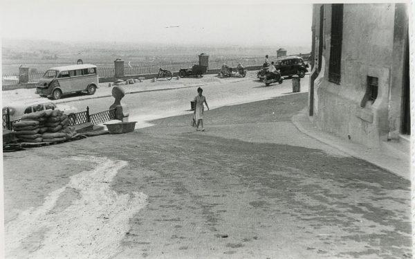 MMH-325-Obras de urbanización en la calle de Núñez de Arce_1960 - Fot Flores