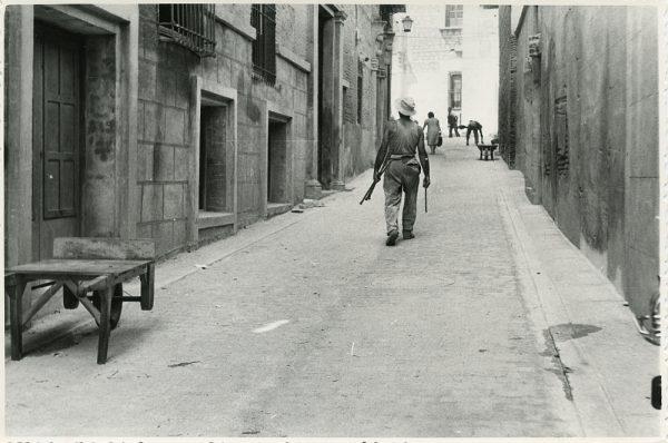 MMH-326-Obras de urbanización en la calle de Núñez de Arce_1960 - Fot Flores