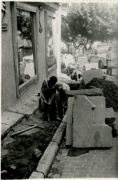 MMH-342-Obras de urbanización en la calle Venancio González_1960 - Fot Flores