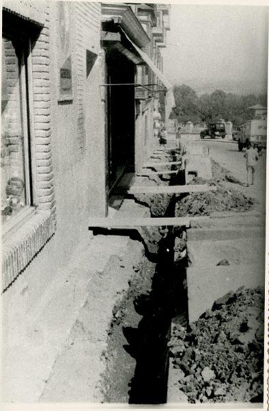 MMH-345-Obras de urbanización en la calle Venancio González_1960 - Fot Flores
