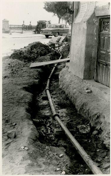 MMH-346-Obras de urbanización en la calle Venancio González_1960 - Fot Flores