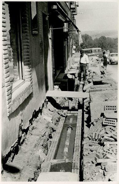 MMH-348-Obras de urbanización en la calle Venancio González_1960 - Fot Flores