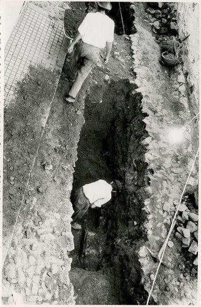 MMH-356-Obras de urbanización en la plaza de la Zarzuela_1960 - Fot Flores