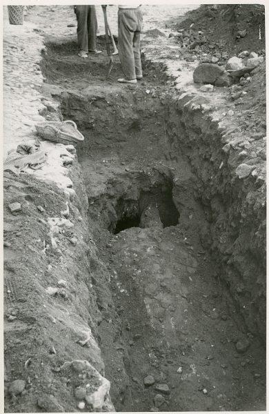 MMH-359-Obras de urbanización en la plaza de la Zarzuela_1960 - Fot Flores
