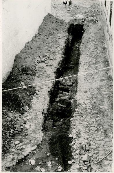 MMH-362-Obras de urbanización en la plaza de la Zarzuela_1960 - Fot Flores
