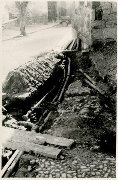 MMH-370-Obras de urbanización junto al tramo de murallas de la calle Gerardo Lobo_1960 - Fot Flores