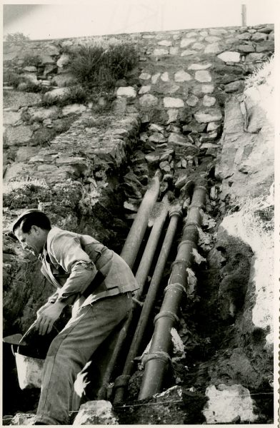 MMH-373-Obras de urbanización junto al tramo de murallas entre Alcántara y Doce Cantos_1960 - Fot Flores