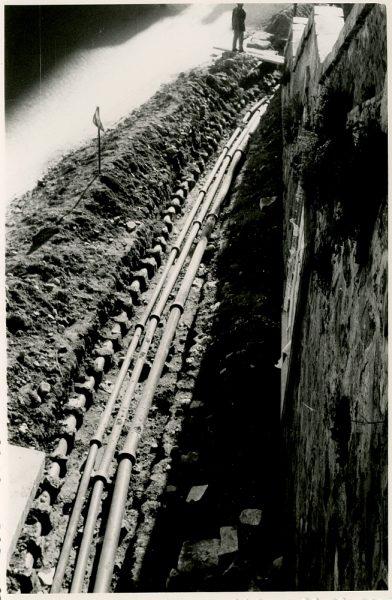 MMH-376-Obras de urbanización junto al tramo de murallas de la calle Gerardo Lobo_1960 - Fot Flores