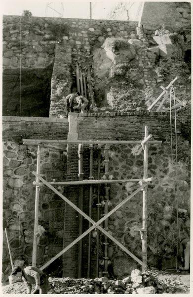 MMH-380-Obras de urbanización junto al tramo de murallas de la calle de Gerardo Lobo_1960 - Fot Flores