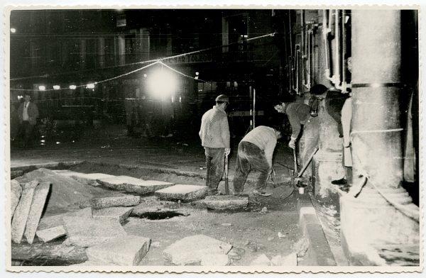 MMH-407-Obras de urbanización de la plaza de Zocodover_1961 - Fot Flores