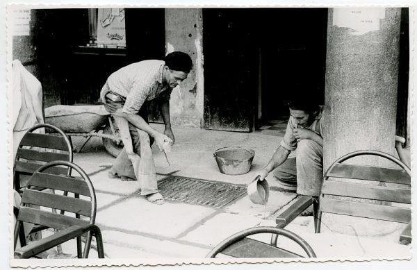 MMH-417-Obras de urbanización de la plaza de Zocodover_1961 - Fot Flores