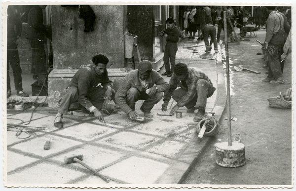 MMH-418-Obras de urbanización de la plaza de Zocodover_1961 - Fot Flores