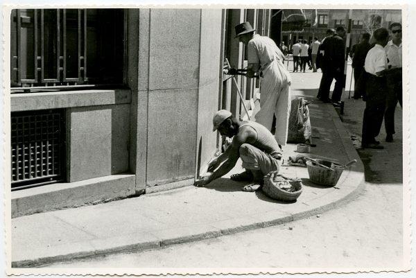 MMH-420-Obras de urbanización de la plaza de Zocodover_1961 - Fot Flores