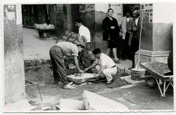 MMH-423-Obras de urbanización de la plaza de Zocodover_1961 - Fot Flores