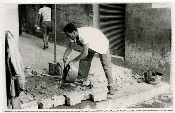 MMH-426-Obras de urbanización de la plaza de Zocodover_1961 - Fot Flores