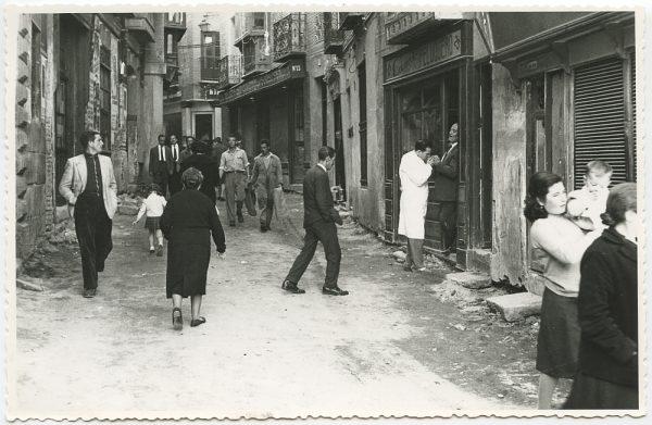 MMH-447-Obras de urbanización en la calle Sillería_1961 - Fot Flores