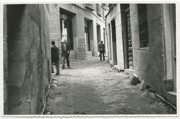 MMH-450-Obras de urbanización en la calle Sillería_1961 - Fot Flores