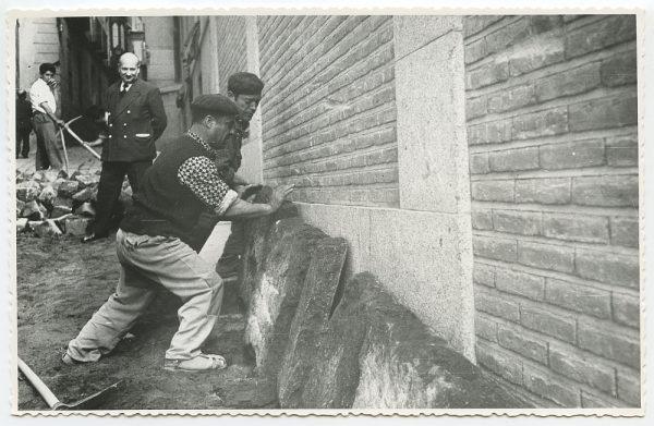 MMH-453-Obras de urbanización en la calle Sillería_1961 - Fot Flores