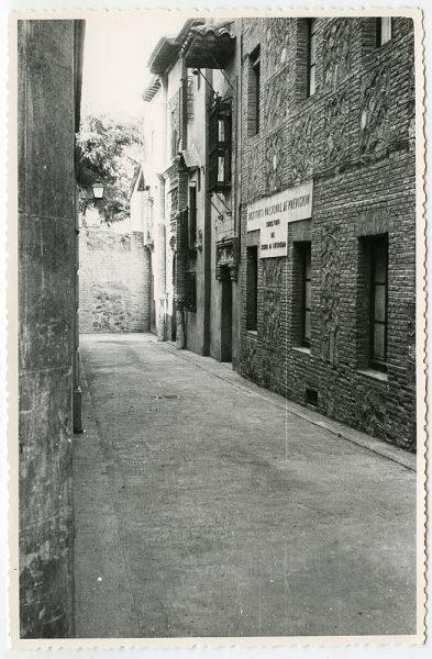 MMH-461-Obras de urbanización en la calle de Recoletos_1961 - Fot Flores