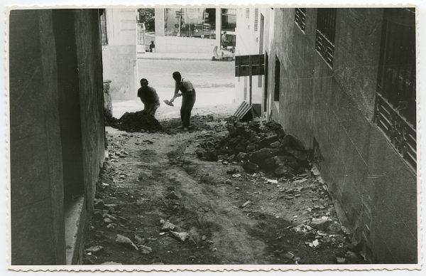 MMH-462-Obras de urbanización en la calle de Recoletos_1961 - Fot Flores