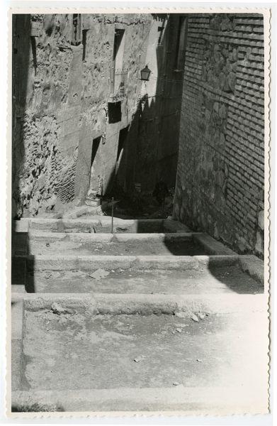 MMH-465-Obras de urbanización en la cuesta del Águila_1961 - Fot Flores