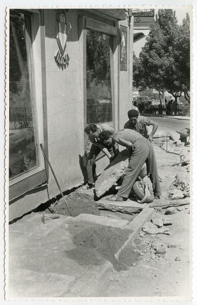 MMH-476-Obras de urbanización en el Corral de la Campana_1961 - Fot Flores