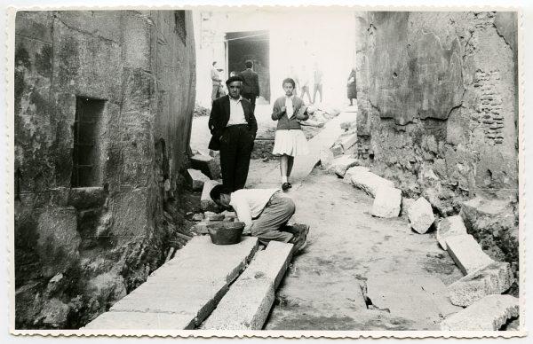 MMH-483-Obras de urbanización en la calle de Alfileritos_1961 - Fot Flores
