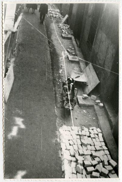 MMH-485-Obras de urbanización en la calle de Alfileritos_1961 - Fot Flores