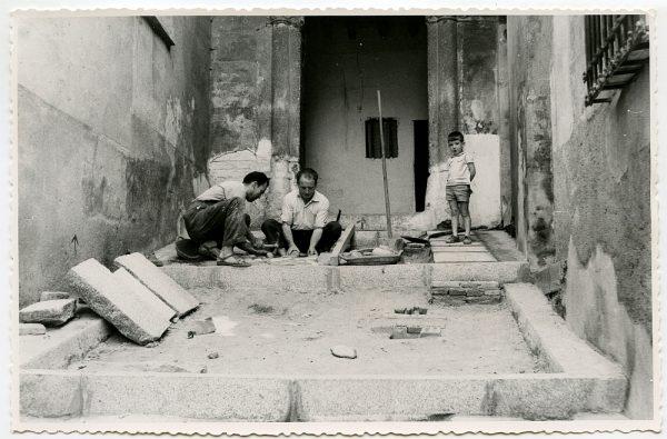 MMH-497-Obras de urbanización en el callejón de Agustín Moreto_1961 - Fot Flores
