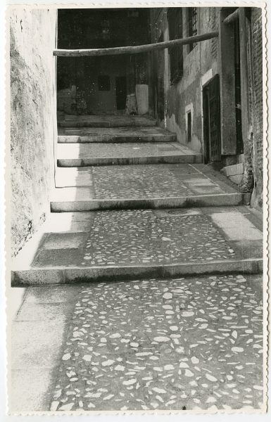 MMH-498-Obras de urbanización en el callejón de Agustín Moreto_1961 - Fot Flores