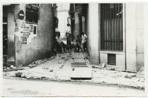 MMH-513-Obras de urbanización en la calle Nueva_1961 - Fot Flores
