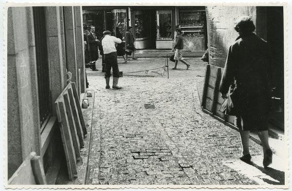 MMH-519-Obras de urbanización en la calle Nueva_1961 - Fot Flores