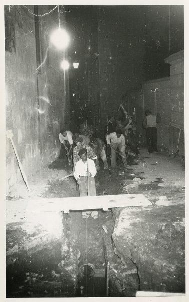MMH-524-Obras de urbanización en la calle de las Cadenas_1961 - Fot Flores
