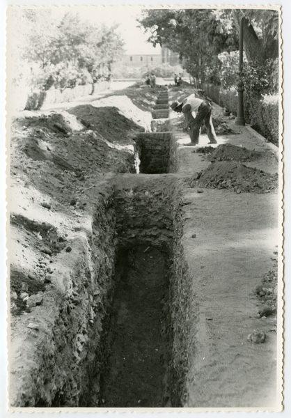 MMH-553-Obras de urbanización en el paseo de Merchán_ ca 1963 - Fot Flores