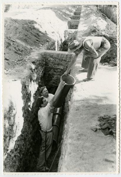 MMH-555-Obras de urbanización en el paseo de Merchán_ ca 1963 - Fot Flores