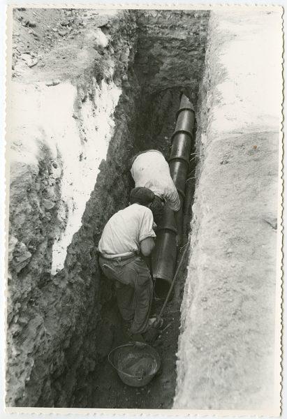 MMH-556-Obras de urbanización en el paseo de Merchán_ ca 1963 - Fot Flores
