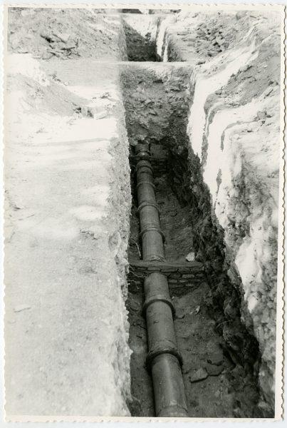 MMH-557-Obras de urbanización en el paseo de Merchán_ ca 1963 - Fot Flores