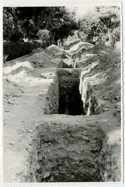 MMH-558-Obras de urbanización en el paseo de Merchán_ ca 1963 - Fot Flores