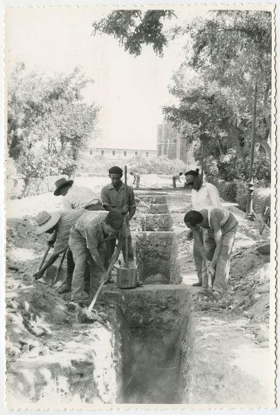 MMH-559-Obras de urbanización en el paseo de Merchán_ ca 1963 - Fot Flores