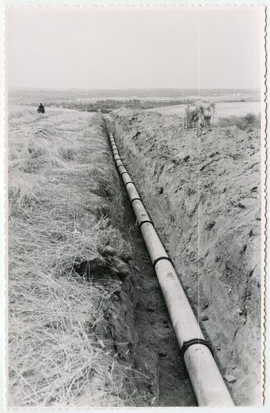 MMH-566-Obras de abastecimiento de agua en paraje desconocido_ca 1963 - Fot Flores