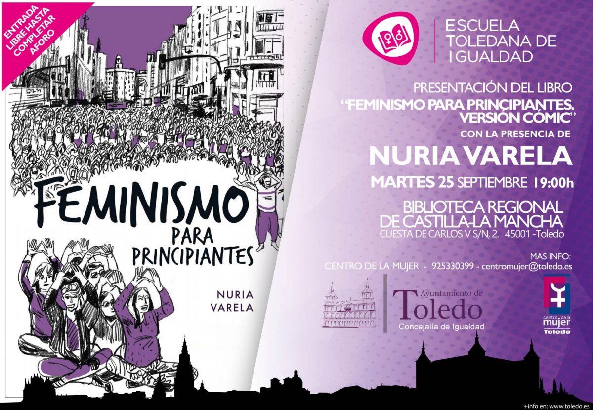 """https://www.toledo.es/wp-content/uploads/2018/09/presentacion-libro-nuria-varela2-1200x830.jpg. NURIA VARELA PRESENTA EN TOLEDO SU LIBRO """"FEMNISMO PARA PRINCIPIANTES. VERSIÓN COMIC"""""""