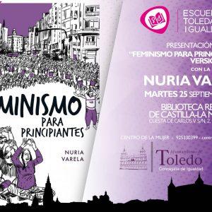 """NURIA VARELA PRESENTA EN TOLEDO SU LIBRO """"FEMNISMO PARA PRINCIPIANTES. VERSIÓN COMIC"""""""