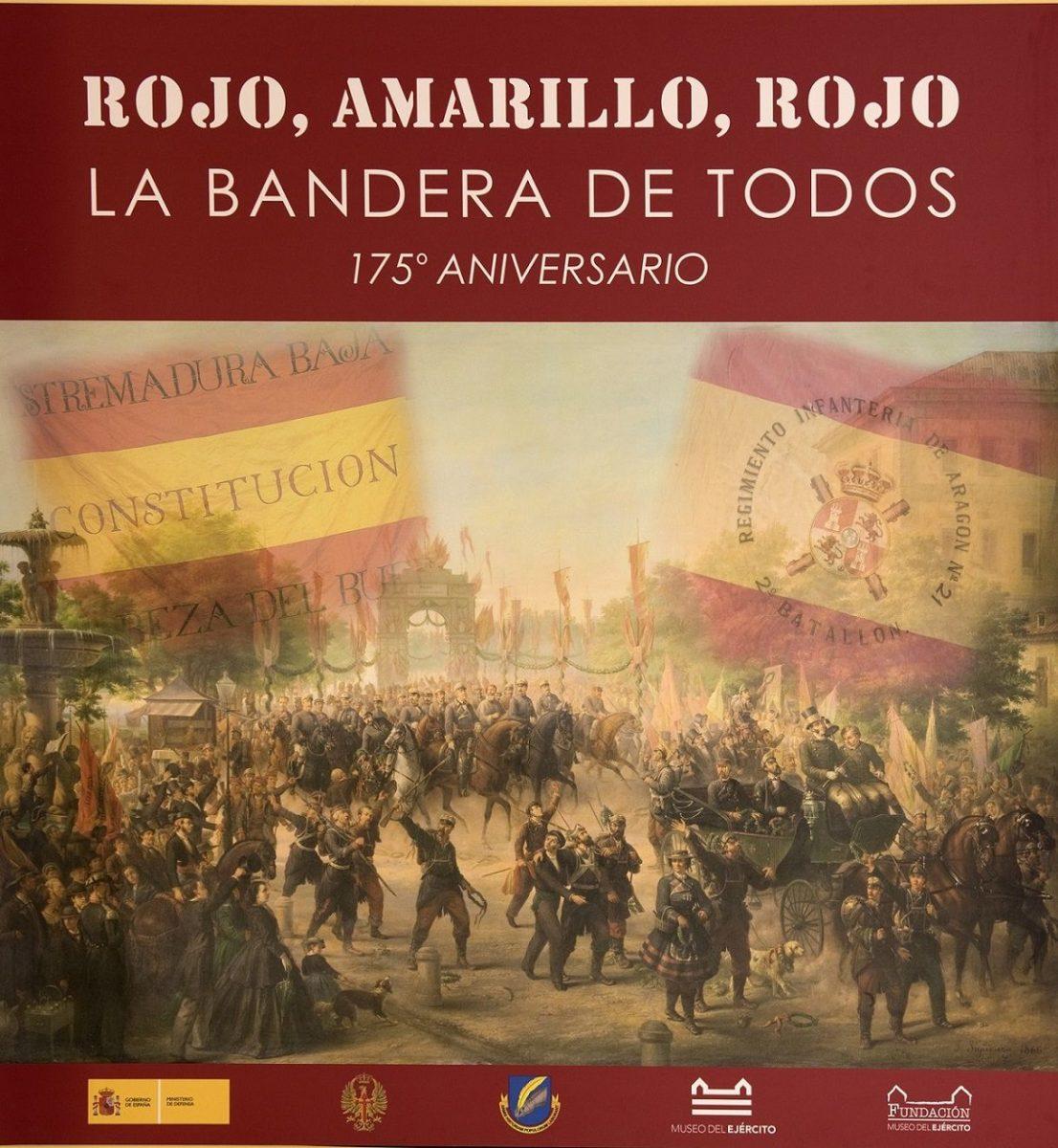 http://www.toledo.es/wp-content/uploads/2018/09/rojo-amarillo-rojo-1106x1200.jpg. EXPOSICIÓN TEMPORAL: ROJO, AMARILLO,ROJO. LA BANDERA DE TODOS. 175º ANIVERSARIO