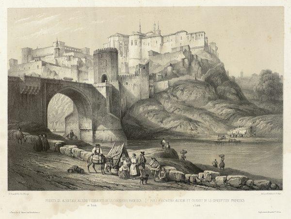 01_Puente de Alcántara, Alcázar y Convento de la Concepción Francisca en Toledo