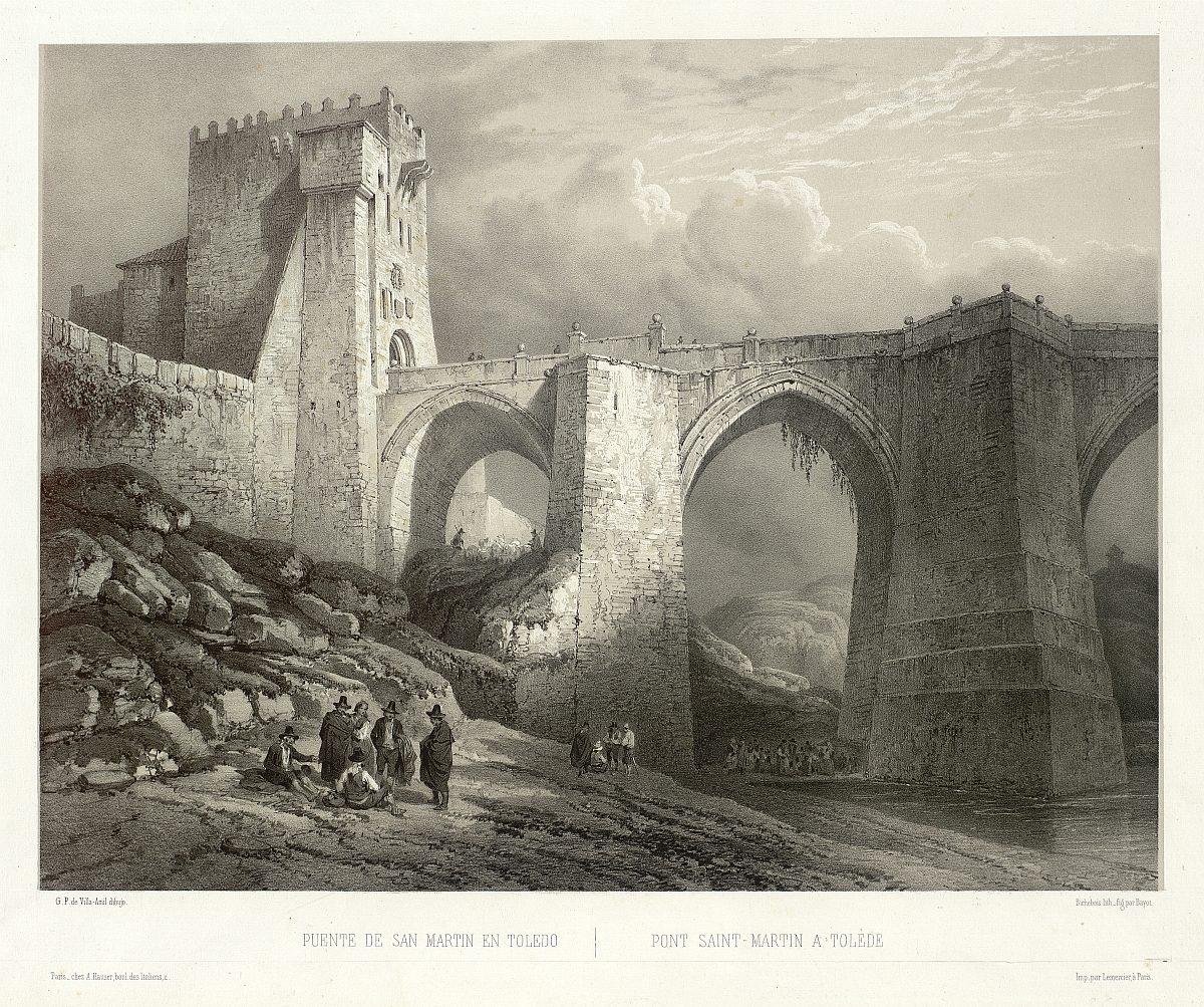 https://www.toledo.es/wp-content/uploads/2018/10/03_puente-de-san-martin-en-toledo-1-1200x1003.jpg. Toledo en los grabados de Genaro Pérez Villaamil (1842-1850)