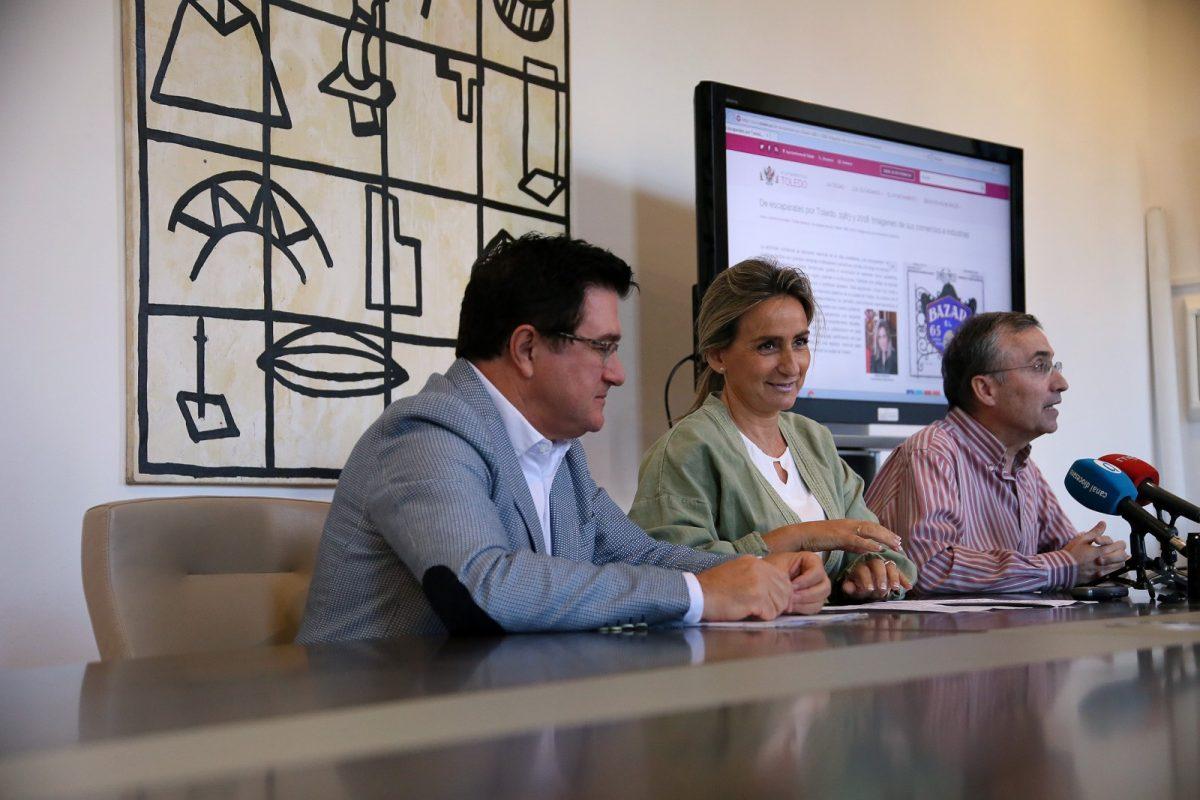 La alcaldesa presenta la nueva exposición virtual del Archivo que propone un paseo histórico por comercios y escaparates