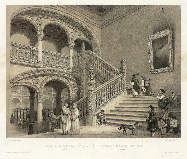 10_Escalera del Hospital de Santa Cruz en Toledo
