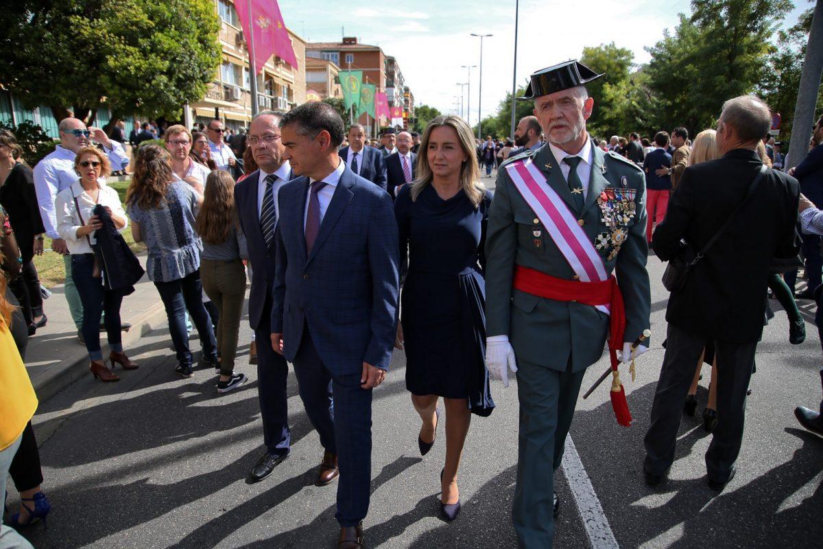 """https://www.toledo.es/wp-content/uploads/2018/10/11_dia_fiesta_nacional-1200x800.jpg. La alcaldesa felicita a los españoles en el Día de la Fiesta Nacional y destaca la labor de la Guardia Civil """"los 365 días del año"""""""