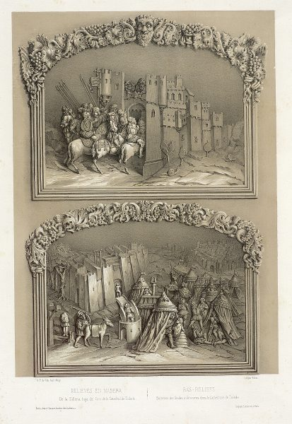 32_Relieves en madera de la Sillería baja del Coro de la Catedral de Toledo